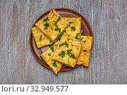 Купить «Cake with filling and cilantro», фото № 32949577, снято 19 февраля 2020 г. (c) easy Fotostock / Фотобанк Лори