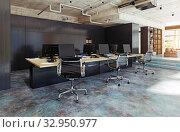Купить «modern office interior,», фото № 32950977, снято 5 июля 2020 г. (c) Виктор Застольский / Фотобанк Лори