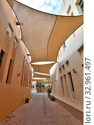 Купить «Doha, Qatar - Nov 20. 2019. Street in Katara Cultural Village», фото № 32961497, снято 20 ноября 2019 г. (c) Володина Ольга / Фотобанк Лори