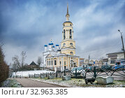 Купить «Благовещенский собор Боровска Annunciation Cathedral  in Borovsk», фото № 32963385, снято 28 декабря 2019 г. (c) Baturina Yuliya / Фотобанк Лори