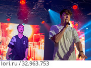 DORTMUND, Germany - December 1st 2018: Die Lochis (German YouTube personalities) at Nickelodeon Slimefest 2018, the first Slimefest in germany. Стоковое фото, фотограф Zoonar.com/Markus Wissmann / age Fotostock / Фотобанк Лори