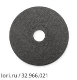 Купить «Top view of abrasive cutting wheel isolated on white», фото № 32966021, снято 18 февраля 2020 г. (c) easy Fotostock / Фотобанк Лори