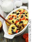 Купить «Millet casserole with dried fruits», фото № 32967221, снято 29 марта 2019 г. (c) Надежда Мишкова / Фотобанк Лори