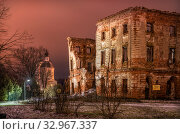Купить «Усадьба Белкино в Обнинске  Belkino Manor in Obninsk», фото № 32967337, снято 28 декабря 2019 г. (c) Baturina Yuliya / Фотобанк Лори