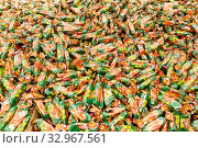 "Купить «Russia Samara November 2019: Confectionery. Candy ""Hazelnut"" on a store shelf, texture.», фото № 32967561, снято 25 декабря 2019 г. (c) Акиньшин Владимир / Фотобанк Лори"