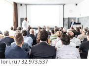 Купить «I have a question. Group of business people sitting in conference hall. Businessman raising his arm. Conference and Presentation. Business and Entrepreneurship», фото № 32973537, снято 30 сентября 2019 г. (c) Matej Kastelic / Фотобанк Лори