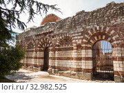 Купить «Church of St John Aliturgetos (14th century) in Nessebar, Bulgaria», фото № 32982525, снято 26 июня 2019 г. (c) Юлия Бабкина / Фотобанк Лори