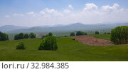 Купить «Beautiful summer landscape in the northern part of Montenegro», фото № 32984385, снято 14 июня 2019 г. (c) Володина Ольга / Фотобанк Лори