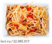 Купить «Marinated salad in Chinese style», фото № 32985017, снято 11 июля 2020 г. (c) Яков Филимонов / Фотобанк Лори