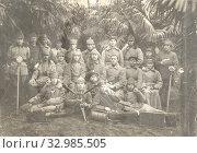 Купить «Портрет красноармейцев связистов под пальмами», фото № 32985505, снято 31 мая 2020 г. (c) Retro / Фотобанк Лори