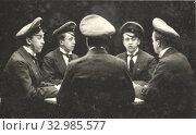 """Купить «""""Иллюзион"""" - изображение одного и того же человека одновременно в нескольких ракурсах. Фото-салон """"Монстр"""", Москва, 1908», фото № 32985577, снято 5 августа 2020 г. (c) Retro / Фотобанк Лори"""