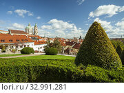 Купить «Autumn day at Vrtba Garden in Mala Strana, Prague, Czechia.», фото № 32991281, снято 30 сентября 2019 г. (c) age Fotostock / Фотобанк Лори
