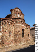 Ancient church of St Stephen in the old town of Nessebar, Bulgaria (2019 год). Стоковое фото, фотограф Юлия Бабкина / Фотобанк Лори