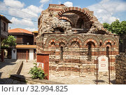 Купить «Church of Archangels Michael and Gabriel (13th-14th century) in Nessebar», фото № 32994825, снято 26 июня 2019 г. (c) Юлия Бабкина / Фотобанк Лори