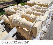 Купить «Архитектурные элементы для украшения здания», фото № 32995241, снято 3 августа 2019 г. (c) Вячеслав Палес / Фотобанк Лори