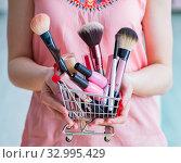 Купить «Beauty products nail care tools pedicure closeup», фото № 32995429, снято 31 мая 2017 г. (c) Elnur / Фотобанк Лори