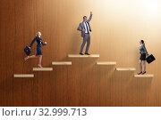 Купить «Gender discrimination concept with promotions», фото № 32999713, снято 19 февраля 2020 г. (c) Elnur / Фотобанк Лори