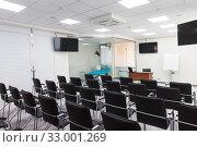 Купить «Empty classroom interior», фото № 33001269, снято 15 февраля 2019 г. (c) Jan Jack Russo Media / Фотобанк Лори