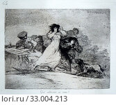 'Disaster 65. ¿Que alboroto es este?, What is All this noise?', The Disasters of War, Francisco de Goya (1746-1828) (2019 год). Редакционное фото, фотограф Artelan / age Fotostock / Фотобанк Лори