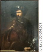 'El condestable de Borbón (The constable of Bourbon), attributed to Titian (1488-1576), oil on canvas on wood. (2019 год). Редакционное фото, фотограф Ruddy Gold / age Fotostock / Фотобанк Лори