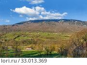 Landscape in Jura Mountains, France (2019 год). Стоковое фото, фотограф Boris Breytman / Фотобанк Лори