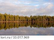 Купить «Forest lake in late autumn», фото № 33017969, снято 7 ноября 2010 г. (c) Argument / Фотобанк Лори