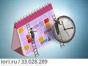 Купить «Business calendar concept with businessman», фото № 33028289, снято 5 августа 2020 г. (c) Elnur / Фотобанк Лори