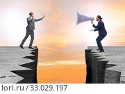 Businessman shouting with loudspeaker at others. Стоковое фото, фотограф Elnur / Фотобанк Лори