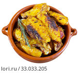 Купить «Tasty fried chicken wings», фото № 33033205, снято 29 февраля 2020 г. (c) Яков Филимонов / Фотобанк Лори