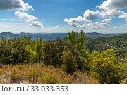 Купить «View from Olymbos, the highest peak of the island of Cyprus.», фото № 33033353, снято 8 октября 2019 г. (c) Володина Ольга / Фотобанк Лори