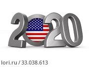 American elections of 2020. Isolated 3D illustration. Стоковая иллюстрация, иллюстратор Ильин Сергей / Фотобанк Лори