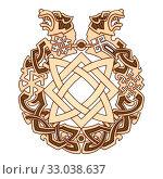 Славянский орнамент с символами славянских богов. Стоковая иллюстрация, иллюстратор Александр Павлов / Фотобанк Лори