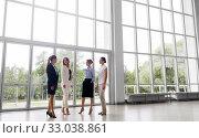 Купить «businesswomen meeting at office and talking», фото № 33038861, снято 3 июля 2016 г. (c) Syda Productions / Фотобанк Лори