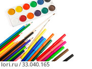 Set of accessories for drawing. Стоковое фото, фотограф Юлия Бабкина / Фотобанк Лори