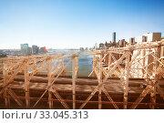 Ed Koch Queensboro Bridge over NY and East river (2014 год). Стоковое фото, фотограф Сергей Новиков / Фотобанк Лори