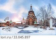 Храм Святителя Николая в Измайлово Church of St. Nicholas  in the Izmailovsky Kremlin. Редакционное фото, фотограф Baturina Yuliya / Фотобанк Лори