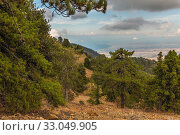 Купить «View from Mount Olympus, highest peak of the island of Cyprus.», фото № 33049905, снято 8 октября 2019 г. (c) Володина Ольга / Фотобанк Лори