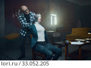 Купить «Maniac kidnapper smothers his scared female victim», фото № 33052205, снято 13 ноября 2019 г. (c) Tryapitsyn Sergiy / Фотобанк Лори