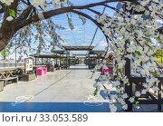Купить «Flowers, alley, arch on the embankment of Kazan», фото № 33053589, снято 24 мая 2019 г. (c) Дмитрий Тищенко / Фотобанк Лори