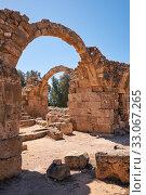 Купить «The remains of Saranta Kolones castle. Paphos Archaeological Park. Cyprus», фото № 33067265, снято 8 июня 2018 г. (c) Serg Zastavkin / Фотобанк Лори