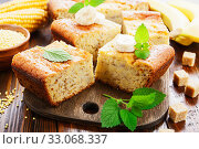 Corn casserole with banana. Стоковое фото, фотограф Надежда Мишкова / Фотобанк Лори