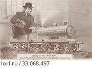 Купить «Испытание модели паровоза, изготовленной компанией Bassett-Lowke - пионер по производству игрушек в Нортгемптоне. Англия», фото № 33068497, снято 28 февраля 2020 г. (c) Retro / Фотобанк Лори