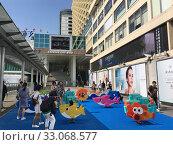Купить «Children's playground before Harbour City, Hong Kong», фото № 33068577, снято 20 сентября 2019 г. (c) Александр Подшивалов / Фотобанк Лори