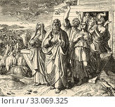 Genesis. The great flood, Arca Noe. God said to Noah, get out of the ark along with your children, your wife and your daughters in law. Take out all the... Стоковое фото, фотограф Jerónimo Alba / age Fotostock / Фотобанк Лори