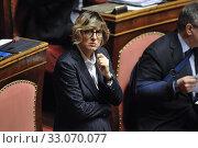 Senator Giulia Bongiorno during the debate at Senate, Rome, ITALY-12-02-2020. Редакционное фото, фотограф Armando Dadi / AGF/Armando Dadi / AGF / age Fotostock / Фотобанк Лори
