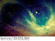 Купить «Night sky with clouds stars nebula background. Space of night sky with cloud and stars.», фото № 33072561, снято 12 июля 2020 г. (c) easy Fotostock / Фотобанк Лори