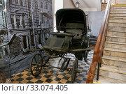 Купить «Russia, Blagoveshchensk, July 2019: a carriage of the late 19th century in the Amur regional Museum of local lore. G. S. Novikov-Daursky», фото № 33074405, снято 7 июля 2019 г. (c) Катерина Белякина / Фотобанк Лори