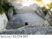 Купить «Big Mitridatsky ladder. Kerch, Crimea», фото № 33074997, снято 29 июня 2019 г. (c) Владимир Арсентьев / Фотобанк Лори