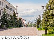 Купить «Sheinkman driveway in the Kazan Kremlin», фото № 33075065, снято 23 мая 2019 г. (c) Дмитрий Тищенко / Фотобанк Лори