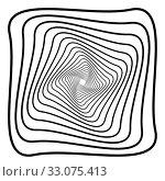 Купить «Abstract 3D background with simple geometric figure. Rotated square stylized design elements isolated on white. Vector», фото № 33075413, снято 13 июля 2020 г. (c) Dmitry Domashenko / Фотобанк Лори